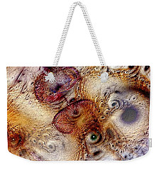 Weekender Tote Bag featuring the digital art Unphased And Confused by Casey Kotas
