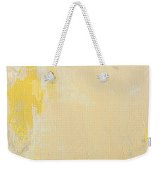Untitled Abstract - Bisque With Yellow Weekender Tote Bag