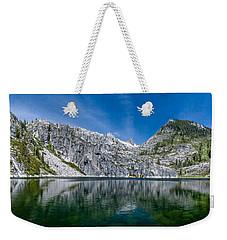 Upper Canyon Creek Lake Panorama Weekender Tote Bag