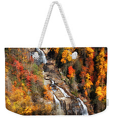 Upper Whitewater Falls Weekender Tote Bag by Lynne Jenkins