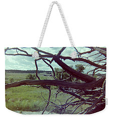 Weekender Tote Bag featuring the photograph Uprooted by Bonfire Photography