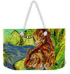 Urbana Tiger In The Outskirts Of Philo Weekender Tote Bag
