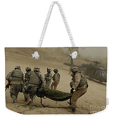 U.s. Army Soldiers Medically Evacuate Weekender Tote Bag