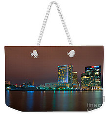 Uscgc Eagle And Inner Harbor East Weekender Tote Bag