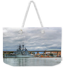 Weekender Tote Bag featuring the photograph Uss Little Rock by Michael Frank Jr
