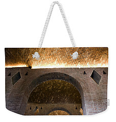 Weekender Tote Bag featuring the photograph Vaulted Brick Arches by Lynn Palmer