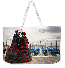 Weekender Tote Bag featuring the photograph Venice Carnival Mask by Luciano Mortula