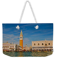 Weekender Tote Bag featuring the photograph Venice's Front Door by Eric Tressler