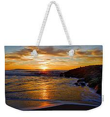 Weekender Tote Bag featuring the photograph Ventura Beach Sunset by Lynn Bauer