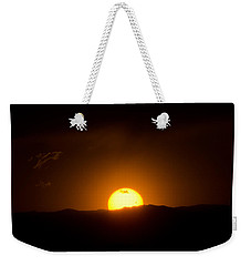 Venus Transit Setting Over The Rocky Mountains Weekender Tote Bag