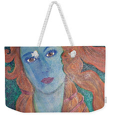 Weekender Tote Bag featuring the painting Venus's Haze by Lucia Grilletto