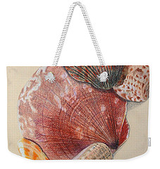 Vertical Clam Shells Weekender Tote Bag