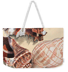 Vertical Conch Shells Weekender Tote Bag