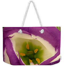 Weekender Tote Bag featuring the photograph Vibrant by Lainie Wrightson