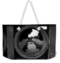 Weekender Tote Bag featuring the photograph View From The Bridge by Nina Prommer