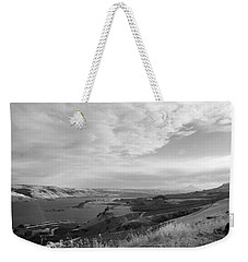 Weekender Tote Bag featuring the photograph View From The Hill Columbia River by Kathleen Grace