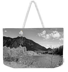 Weekender Tote Bag featuring the photograph View From The River by Kathleen Grace