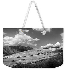 Weekender Tote Bag featuring the photograph View Into The Mountains by Kathleen Grace