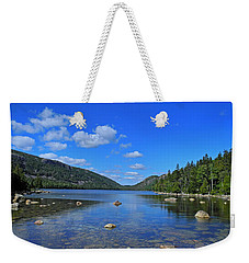Weekender Tote Bag featuring the photograph View Of Jordan Pond by Lynda Lehmann