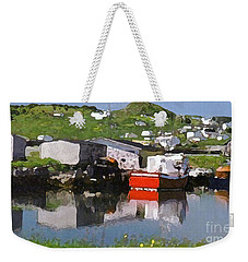 Weekender Tote Bag featuring the photograph Villiage by Lydia Holly