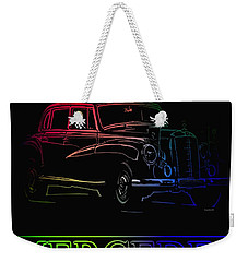 Weekender Tote Bag featuring the photograph Vintage Mercedes by George Pedro
