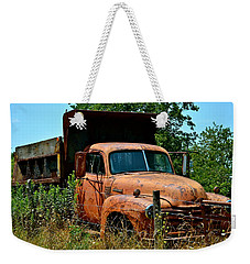 Weekender Tote Bag featuring the photograph Vintage Old Time Truck by Peggy Franz