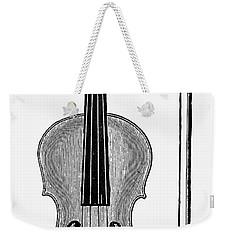 Violin And Bow Weekender Tote Bag
