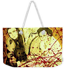 Weekender Tote Bag featuring the mixed media Visit Beautiful Ar Ramadi by Michelle Dallocchio
