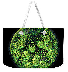 Weekender Tote Bag featuring the digital art Volvox by Russell Kightley