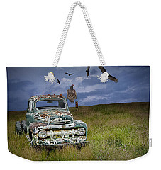 Vultures And The Abandoned Truck Weekender Tote Bag