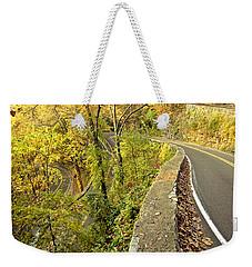 W Road In Autumn Weekender Tote Bag