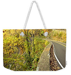 W Road In Autumn Weekender Tote Bag