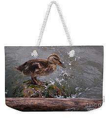 Wading Weekender Tote Bag