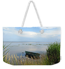 Weekender Tote Bag featuring the photograph Waiting For The Nightshift by Ausra Huntington nee Paulauskaite