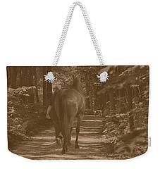 Weekender Tote Bag featuring the photograph Walk Down Memory Lane by Davandra Cribbie