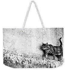 Walking On The Wall Weekender Tote Bag