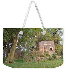 Weekender Tote Bag featuring the photograph Walnut Grove School Ruins by Bonfire Photography