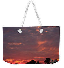 Weekender Tote Bag featuring the photograph Warwickshire Sunset by Linsey Williams