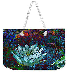 Water Lily Abstract Weekender Tote Bag by Phyllis Denton