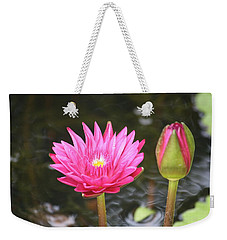 Weekender Tote Bag featuring the photograph Water Lily by Donna  Smith