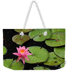 Water Lily Weekender Tote Bag by Kay Lovingood