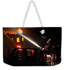 Water On The Fire From Pumper Truck Weekender Tote Bag