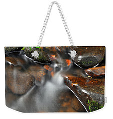 Water Over Rocks Weekender Tote Bag by Kay Lovingood