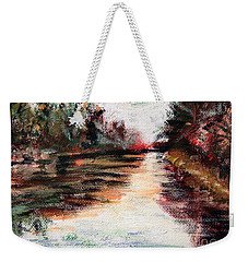 Water-way Oil Painting Weekender Tote Bag
