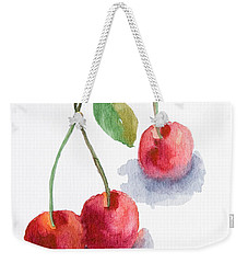 Watercolor Cherry  Weekender Tote Bag