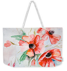 Watercolor Poppy Flower  Weekender Tote Bag