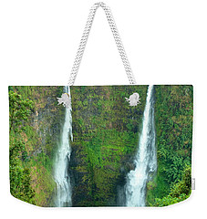 Weekender Tote Bag featuring the photograph waterfall in Laos by Luciano Mortula