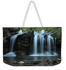 Weekender Tote Bag featuring the photograph Waterfall On Flat Fork by Daniel Reed