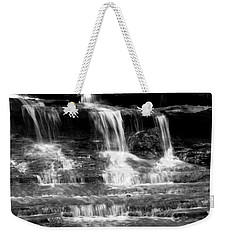 Waterfall Trio At Mcconnells Mill State Park In Black And White Weekender Tote Bag