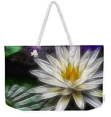 Waterlily In Pseudo-fractal Weekender Tote Bag by Lynne Jenkins